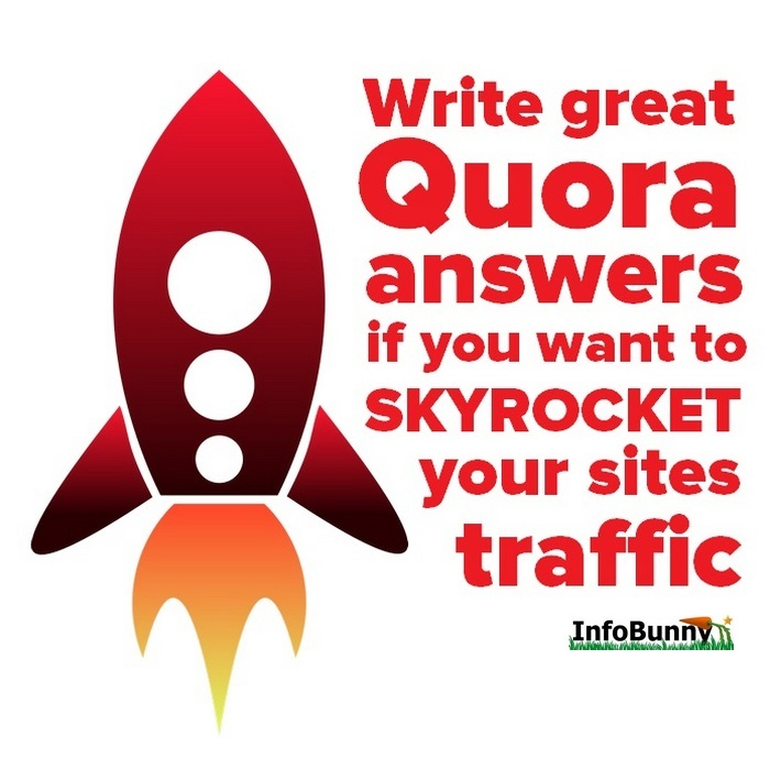Pinterest image for  - Write great Quora answers if you want to skyrocket your sites traffic