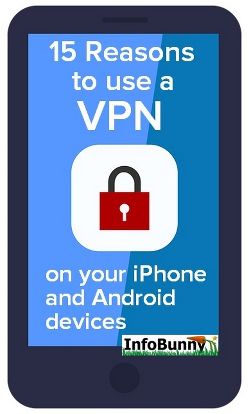 Pinterest Image for  -  15 Reasons to Use a VPN on your iPhone and Android devices