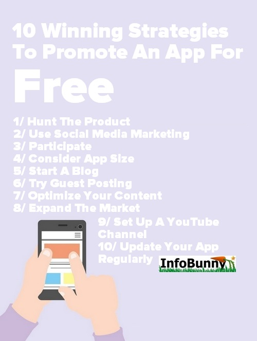 Pinterest Image -    Promote an App for Free - 10 useful strategies to promote your app - Takeaways