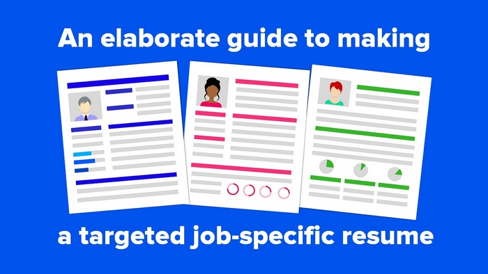 Header graphic for the article - An elaborate guide to making a targeted job-specific resume