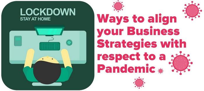 Header image/graphic for the article: Ways to align your Business Strategies with respect to a Pandemic