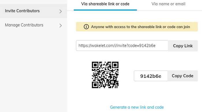 Screen capture for - How to invite and add contributors to Wakelet Spaces