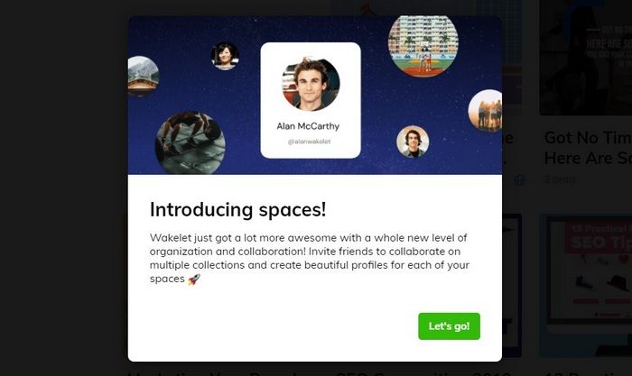 Introducing Wakelet Spaces screen capture