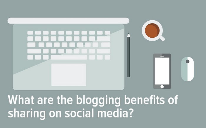 Header graphic for the article -  What are the blogging benefits of sharing on social media?