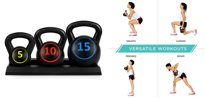 Image of a set of kettle bells