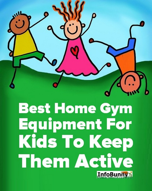 Cartoon kids playing - Best Home Gym Equipment For Kids To Keep Them Active