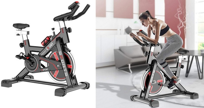 Product image  IDEAPARK Exercise Bikes Indoor Cycling Bike Stationary - Best Home Gym Equipment For Women In 2021