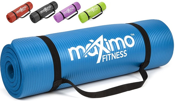 Maximo Exercise Mat NBR Fitness Mat product image - Best Home Gym Equipment For Women In 2021