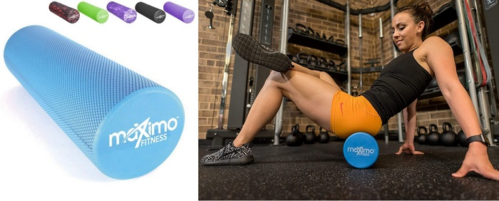 Product image for the Maximo Fitness Foam Roller - Superior Muscle Roller Best Home Gym Equipment For Kids To Keep Them Active