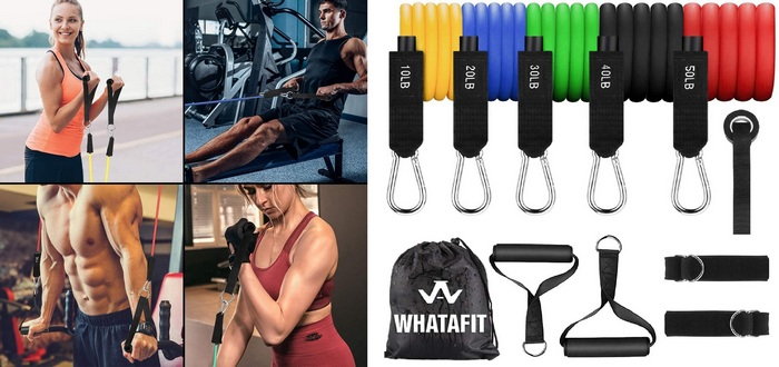 Product/sales image for resistance bands for the article Best home gym equipment for women