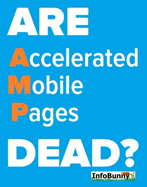 text graphic for the article Is Amp Dead? Are Accelerated Mobile Pages Dead Or Still Relevant?