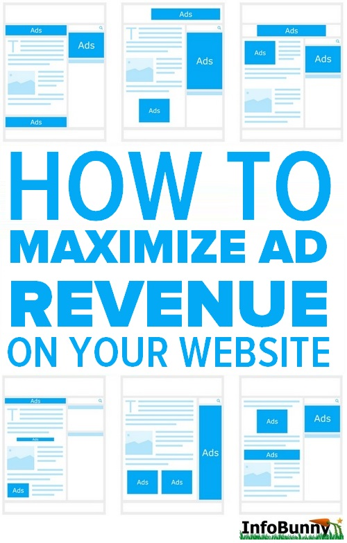Pinterest share image for - How to maximize ad revenue on your website