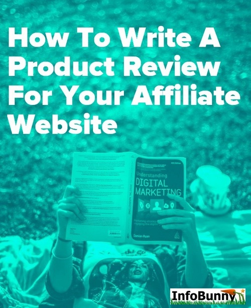 Pinterest share image - How to write a product review for your affiliate website