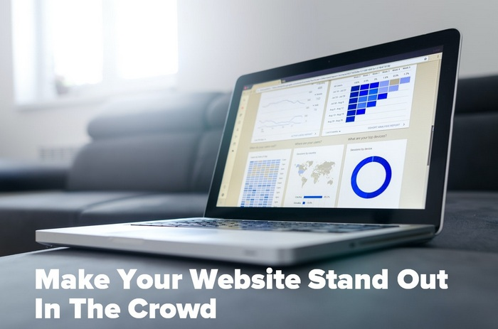 Laptop image for the article - Make Your Website Stand Out In The Crowd