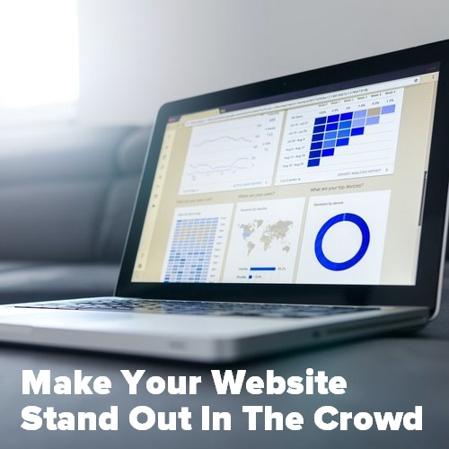 Pinterest share image for the article Make Your Website Stand Out In The Crowd