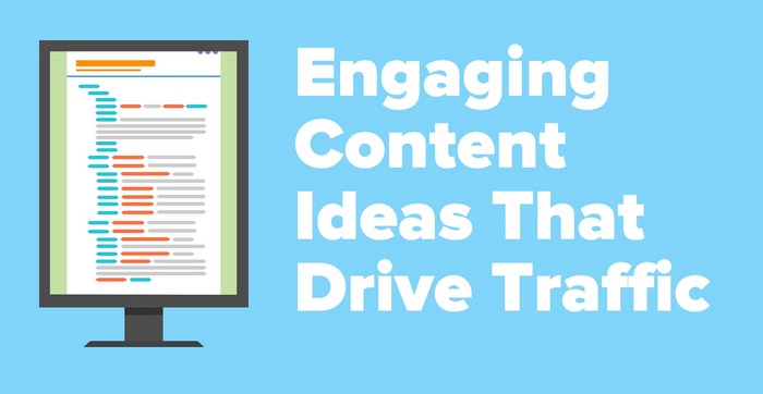 Header image of a tablet screen for the article Engaging Content Ideas That Drive Traffic - Pro Tips For Great Content