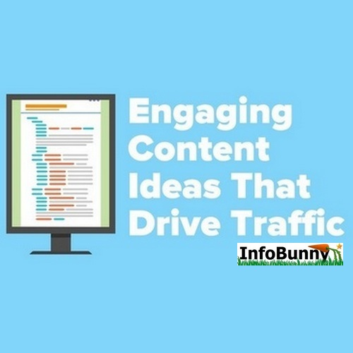 Engaging Content Ideas That Drive Traffic Pinterest version of the header.