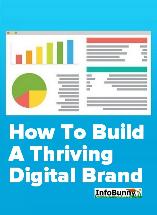 Pinterest share graphic for the article - How To Build A Thriving Digital Brand