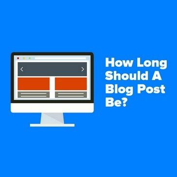 Featured image of a computer screen for the article How long should a blog post be?