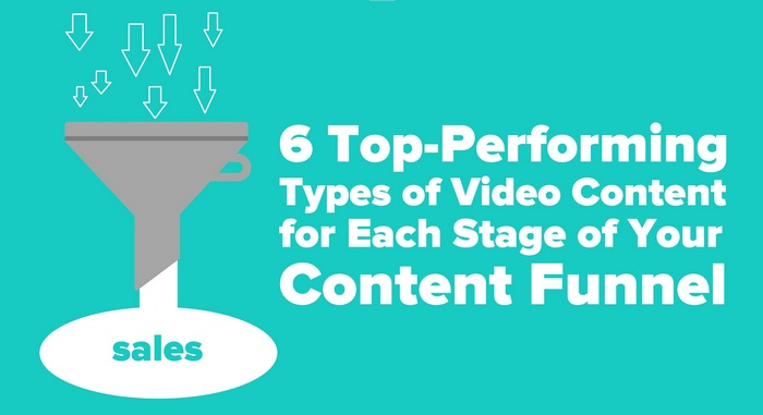 Header graphic for the article -  6 Top-Performing Types of Video Content for Each Stage of Your Sales Content Funnel