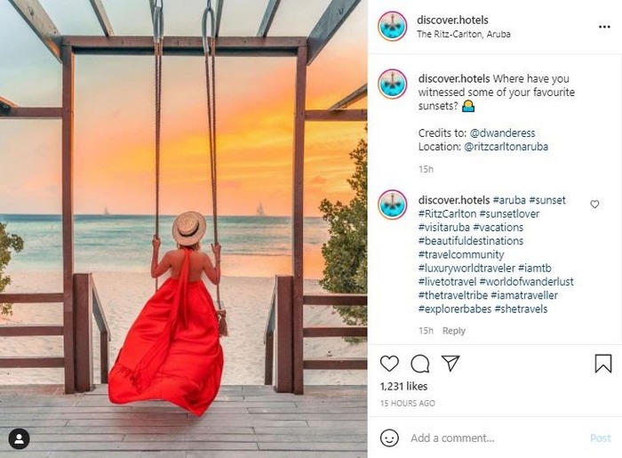 Discover Hotels Instagram profile