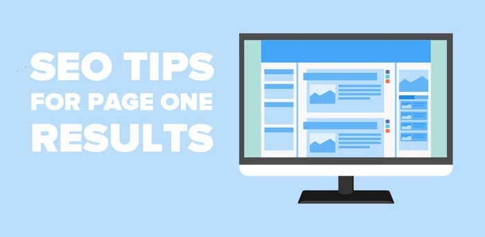 Header image of a monitor for the article SEO Tips for page one results