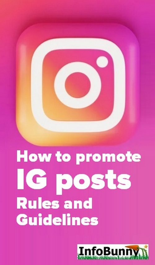 Pinterest share image - How to promote IG posts - Rules and Guidelines