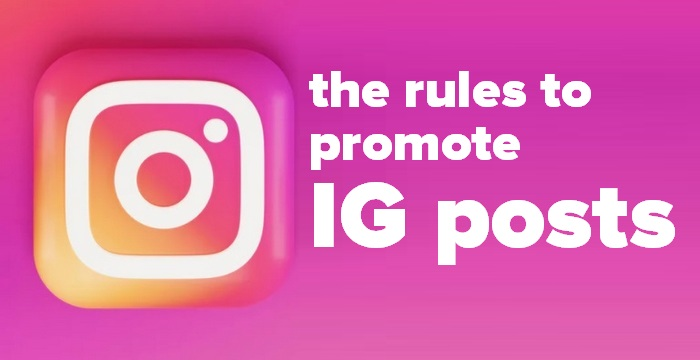 Header image of the Instagram logo - How to promote IG posts - Rules and Guidelines