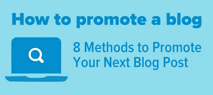 How to promote a blog - header
